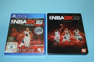 Set NBA 2K16 (Precintado) + Caja Metálica (Steelbox) - Sony PlayStation 4