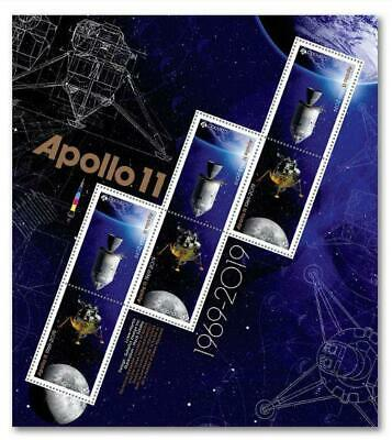 2019 Canada 🍁 🚀 APOLLO 11 PANE of 6 MNH Stamps - 50 Years MOON 🚀🌘 LANDING 🍁