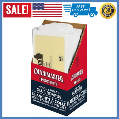 Catchmaster 75M Bulk SMALL Mouse and Insect Glue Boards, 75-Pack 7x3.5 inches
