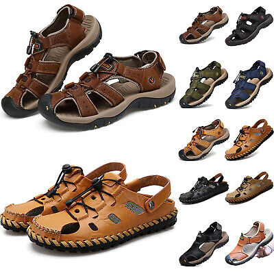 Men's Hiking Walking Outdoor Sandals Closed Toe Comfy Beach Casual Shoes Size