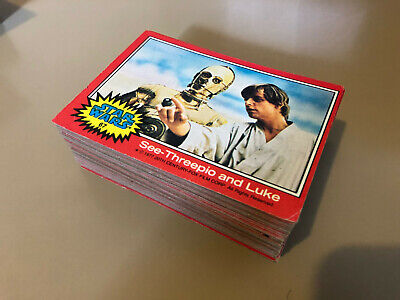 Star Wars - Series 2 (RED) - Complete Trading Card Set (66) 1977 - EX/EX+
