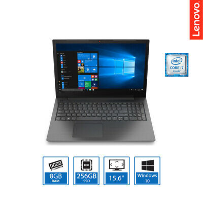 "Lenovo V130- 15.6"" Intel Core i7 Laptop, 8GB RAM, 256GB SSD, DVDRW, Windows 10"