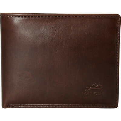 Mancini Leather Goods Men's RFID Secure Billfold with Men's Wallet NEW