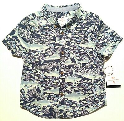 Vineyard Vines For Target 18 Mo Boys Toddler School Of Sharks Button Down Shirt