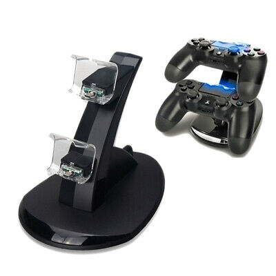 LED Dual Charger Dock USB-Ladestation für PS4 PlayStation Wireless Controller