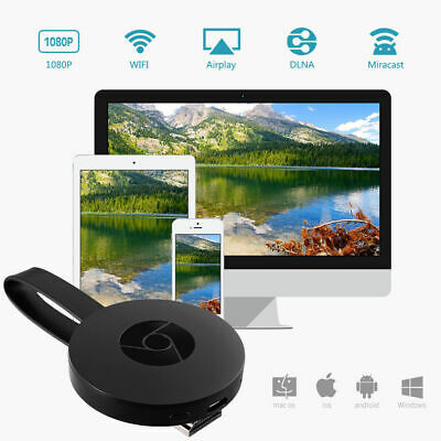 Google Chromecast 2 WiFi HDMI Dongle Youtube Miracast Airplay Ultra 4K Audio New