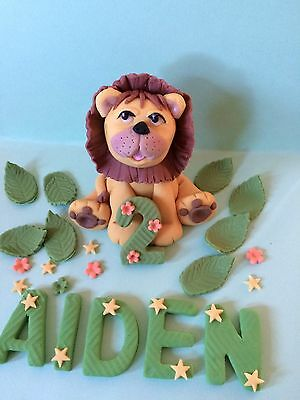 Edible Fondant Lion With Customised Age And Name