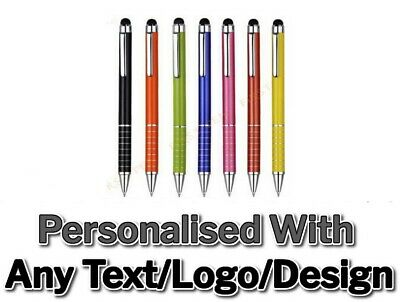 Personalised Laser Engraved With Your Message Promotional Gift Stylus Pen Metal
