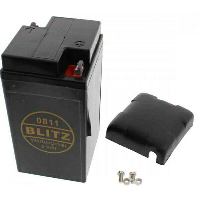 Motorradbatterie 0811 Gel schwarz 6V battery black Vespa Rally II Grand Sport Su
