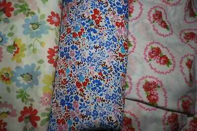 Three Fitted Cot Sheets- Florals
