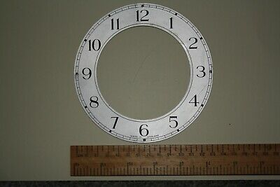 "Vintage Smiths 5.5"" mantel clock dial/face/chapter ring for spares/repairs/parts"