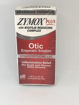 Zymox Plus Otic Enzymatic Solution Inflammation Relief exp 8/2021