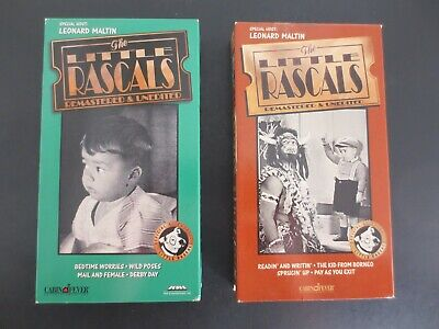 Lot of 2~Litlle Rascals Videos~Volumes 4 & 14~VHS Tapes~1994