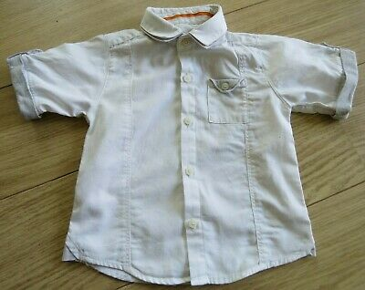 Boys TED BAKER WHITE COTTON Summer Shirt Age 2-3 years. EXCELLENT CONDITION.