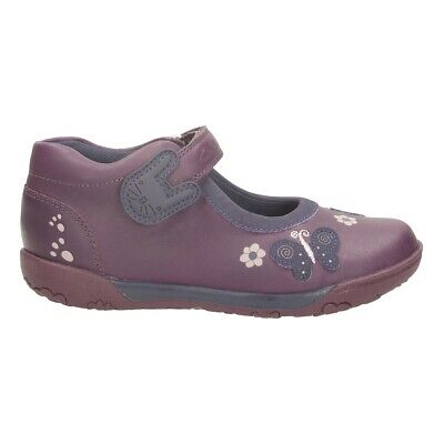 Clarks Girls Nibble Ria Purple Leather Shoes Uk Infant Size 8 F