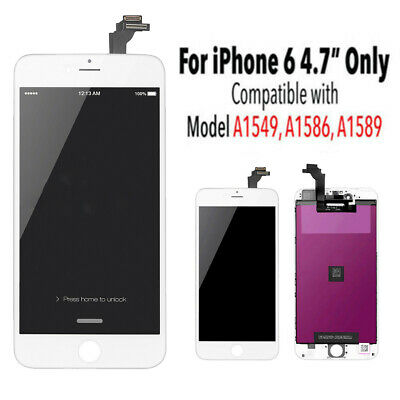 For iPhone 6 White Screen LCD Display Replacement Assembly Touch Digitizer AAA+