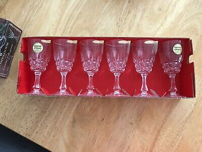 VTG Cristal D'Arques POMPADOUR Set Of 6 Lead Crystal Glasses (5cl)