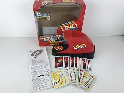 UNO Attack Electronic Card Launcher Working Mattel Game Family Fun 2005 Complete