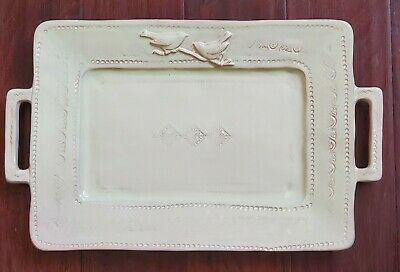 New Vietri Bellezza Celadon  Rectangle Handled Serving Platter Tray