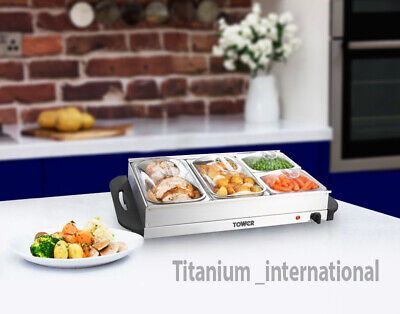 2 In 1 Tower Buffet Server / Hot Plate Function Food Server Food Warmer