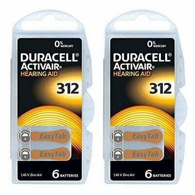 11 x Duracell Activair Mercury Free Hearing Aid Batteries Size 312  Expiry 12/20