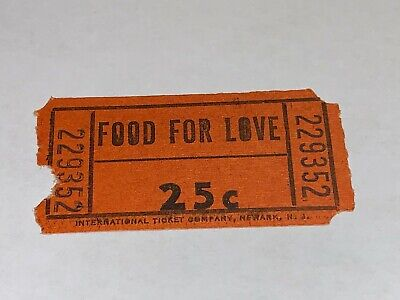 Woodstock 1969 Food For Love Concession Ticket Photos Jimi Hendrix Janis Joplin