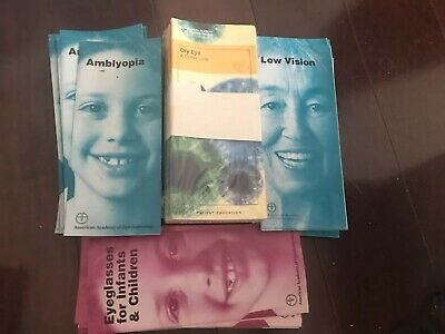 Amer Academy Ophthalmology Optometry Patient Educational Brochures $300 Value