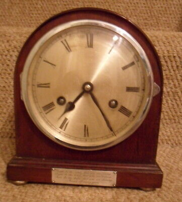 Striking clock by Jahersuhrenfabrik Germany for spares/repair