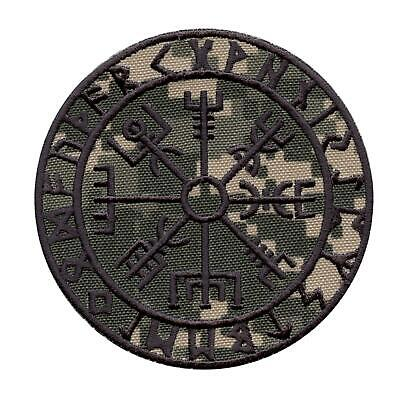 vegvisir viking compass ACU gray ECWCS embroidered morale sew iron on patch