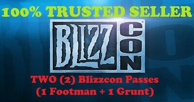 TWO (2) BlizzCon 2019 GENERAL ACCESS Tickets: 1 Footman + 1 Grunt Statues
