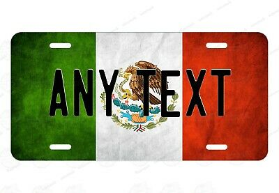 Mexico Distressed Flag Any Text Personalized Novelty Auto Car License Plate ATV