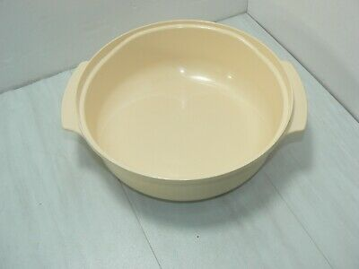 Tupperware Tupperwave Microwave 1.75 Qt Casserole Stack Cooker Bowl Almond #2210