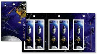 2019 Canada 🍁 🚀 APOLLO 11 BOOKLET of 10 Stamps - 50 Years MOON 🚀🌘 LANDING 🍁
