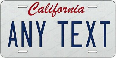 California Style Any Text Personalized Novelty Auto Car License Plate Bicycle