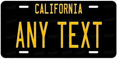 California Black Style Any Text Personalized Novelty Auto Car License Plate ATV