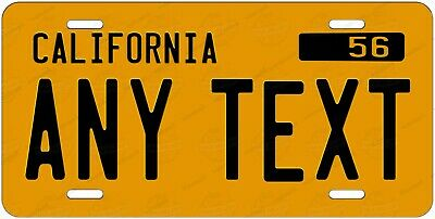 California Gold Any Text Personalized Novelty Auto Car License Plate ATV bicycle