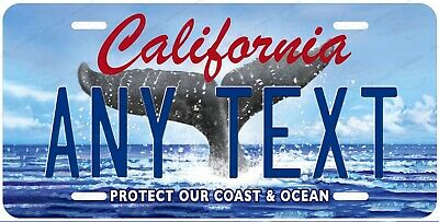 California Ocean Any Text Personalized Novelty Auto Car License Plate ATV