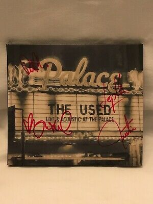 Autographed The Used Live and Acoustic at the Palace CD Signed Emo Punk Screamo