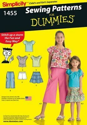 Simplicity Sewing Pattern 1455 Childs & Girls Top Skirt Pants Sizes 3 - 6