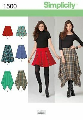 Simplicity Sewing Pattern 1500 Misses Skirts with Length Variations Size 14-22