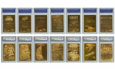 Star Wars - Genuine 23KT Gold Cards Graded Gem-Mint 10 – COMPLETE SET OF 7 1996