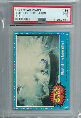 Star Wars - Series 1 (Blue) Trading Card # 36 - Topps 1977 - PSA Graded - NM 7