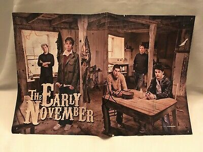 Signed The Early November Poster Autographed By ALL New Jersey Emo Punk NJ DTR
