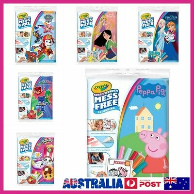 Crayola Colour Wonder Mess Free Frozen Peppa Pig PJ Mask Colouring Pages Markers