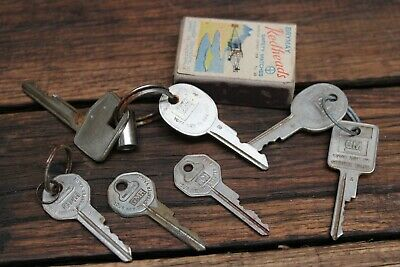 Vintage GM GMH Holden Keys Old Car Ignition Brass Torana Commodore