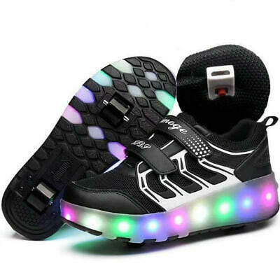 Adult Kids Teens Roller Skate Shoes Wheel Sneaker Boys Girls Light Led Sneakers