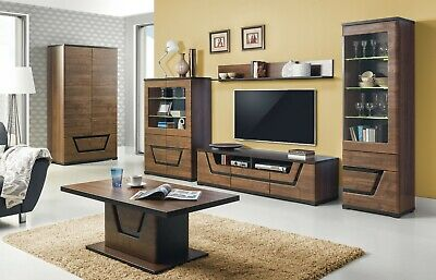 Tes High Quality Living Dining Room Furniture In Dark Walnut Wood Effect Colour