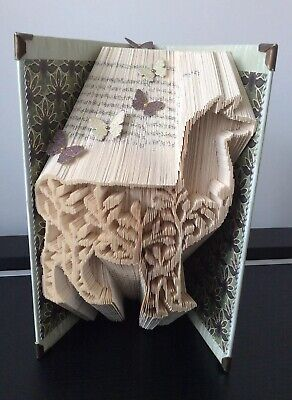 Folded Book Art, Llama, Lovely Gift/ Home Decor