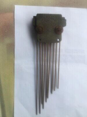 Westminster/ Whittington Clock  Parts ,   9 Reed  Chime  Bar.