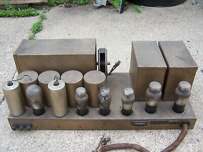 Vintage Temple / Templetone Tube Radio Chassis For Parts / Repair #45 Tubes